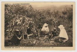 C.P.  PICCOLA     MISSIONE  DEL  KENYA   LA  SUORA  PRESSO  GLI  AMMALATI  NELLA  FORESTA    2 SCAN  (NUOVA) - Kenia