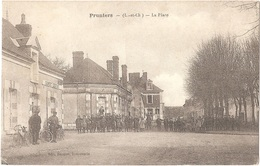Dépt 41 - PRUNIERS-EN-SOLOGNE - La Place - (Édit. Bacquet) - à Gauche : Débitant De Vins GOURDET - Other Municipalities
