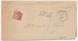 1888 LOGRATO BRESCIA CERCHIO + NUMERALE A SBARRE + CARTELLA  DI COLLETTORIA RURALE  COMUNE DI BERLINGO - 1861-78 Vittorio Emanuele II