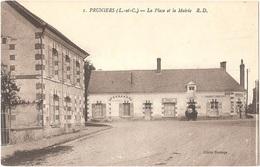 Dépt 41 - PRUNIERS-EN-SOLOGNE - La Place Et La Mairie - (R. D., N° 1 - Cliché Dorange) - Débitant De Vins GOURDET - Sonstige Gemeinden