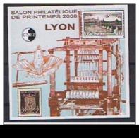 """BLOC CNEP N° 50 **  """"NON DENTELE"""" + Epreuve De Luxe N° 50b, Salon Philatélique Printemps LYON 2008 - - CNEP"""