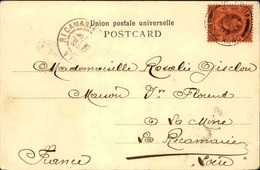 HONG KONG - Affranchissement Plaisant Sur Carte Postale ( The Peak ) En 1903 Pour La France - L 53189 - Hong Kong (...-1997)