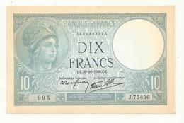BILLET 10F MINERVE    OZ 26-10-1939   NEUF  Un Peu Jauni Par Le Temps. - 10 F 1916-1942 ''Minerve''