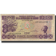 Billet, Guinea, 100 Francs, 1960-03-01, KM:30a, TB - Guinée