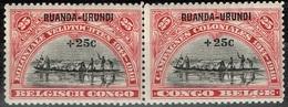Ruanda-Urundi - 1925 - Y&T N° 77** Et 78** En Paire, Neufs Sans Traces De Charnières - Ruanda-Urundi