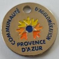 Jeton De Caddie - Communauté D'Agglomération PROVENCE D'AZUR - Jetons Utile Trions - En Métal - Neuf - - Munten Van Winkelkarretjes