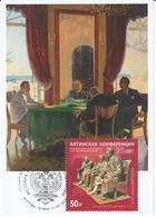 2822 Mih 2600 Russia 02 2020 Maximum Card 1 1945 Yalta Conference Stalin Roosevelt Churchill WW II World War II - 1992-.... Fédération