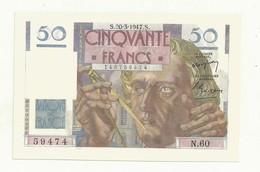 BILLET 50 F LE VERRIER  S.20-3-1947.S.    NEUF SUPERBE  TTB+ - 1871-1952 Anciens Francs Circulés Au XXème