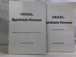 Orgel-Spieltisch-Normen U. BDO-Normenzeichnungen. - Musica