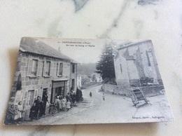 Pontcharraud.Un Coin Du Bourg Et L'église. - France