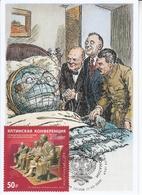 2822 Mih 2600 Russia 02 2020 Maximum Card 6 1945 Yalta Conference Stalin Roosevelt Churchill WW II World War II - Militaria