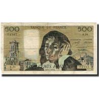 France, 500 Francs, Pascal, 1973-12-06, B+, Fayette:71.10, KM:156b - 1962-1997 ''Francs''