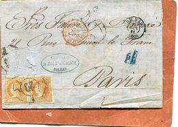 LETTRE D ESPAGNE - 1850-68 Royaume: Isabelle II