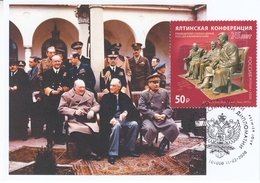 2822 Mih 2600 Russia 02 2020 Maximum Card 8 1945 Yalta Conference Stalin Roosevelt Churchill WW II World War II - Sir Winston Churchill