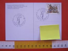 A.14 ITALIA ANNULLO 2003 POSTUA VERCELLI BIELLA CENTENARIO INCORONAZIONE MADONNA DEI SETTE DOLORI MARIA CROCE GESU - Cristianesimo
