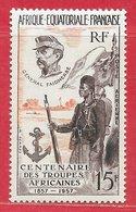 Afrique équatoriale Française PA N°62 15F Brun & Orange 1957 * - A.E.F. (1936-1958)