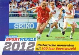 Kalender Calendrier - Pub Reclame Sportwereld , Historische Momenten - 2012 - Calendriers