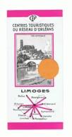 Marque Pages Publicitaire - Centres Touristiques Proches De LIMOGES - Réseau D'Orléans ( B260/5) - Bladwijzers