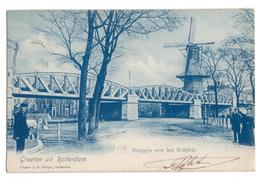 Rotterdam - Bruggen Over Het HOfplein - Molen - 1901 - Rotterdam