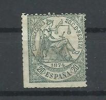 ESPAÑA  EDIFIL  146    (*)  (SIN GOMA)  (FIRMADO  SR. CAJAL, MIEMBRO DE IFSDA) - 1873 1. Republik