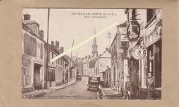 Dept 28 : ( Eure Et Loir ) Beville-le-Comte, Rue Principale. - Francia