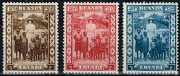 Ruanda-Urundi - 1936 - Y&T N° 108* à 110*, Neufs Avec Traces De Charnières - Ruanda-Urundi