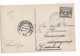 Heinenoord Langebalk - Numansdorp (ZH) Kortebalk - 1937 - Postal History