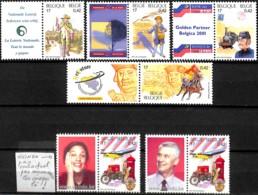 [154256]TB//**/Mnh-Belgique 2001 - N° 2996/3000, 500 Ans De La Poste, Vicindo Homme + Femme (pas Nécessairement Ceux-là) - Poste