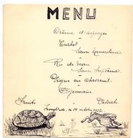 Menu - Haas En Schildpad - Hooglede 1936 - Menus