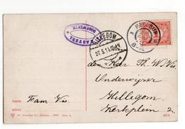 Heelsum Grootrond - Hillegom Langebalk 2 - 1911 - Marcophilie