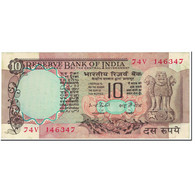 Billet, Inde, 10 Rupees, 1977, Undated (1977), KM:81e, TB - Inde