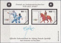 """DEUTSCHLAND 1992 Farbsonderdruck Der Entwürfe """"Für Den Sport"""" - [7] República Federal"""