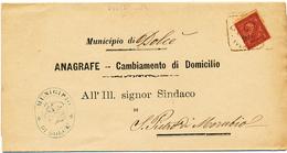 1891 DOLCE' QUADRATO  DI COLLETTORIA RURALE  + TIMBRO ARALDICO E TESTO - 1878-00 Umberto I