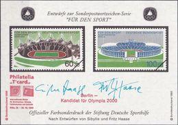 """DEUTSCHLAND 1993 Farbsonderdruck Der Entwürfe """"Für Den Sport"""" - [7] República Federal"""