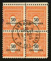 FRANCE - YT 702 - BLOC DE 4 TIMBRES OBLITERES - 1944-45 Arc De Triomphe