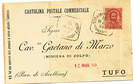 1899  ROMAGANANO AL MONTE SALERNO QUADRATO  DI COLLETTORIA RURALE - 1878-00 Humbert I