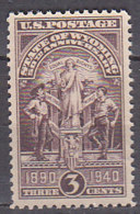 H1103 - ETATS UNIS UNITED STATES Yv N°449 ** WYOMING - United States