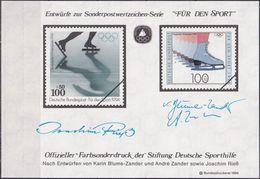 """DEUTSCHLAND 1994 Farbsonderdruck Der Entwürfe """"Für Den Sport"""" - [7] República Federal"""