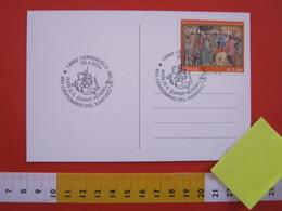 A.14 ITALIA ANNULLO 2004 VERGNASCO BIELLA 17° CENTENARIO MARTIRIO S. GIORGIO JORGHE CAVALIERE DRAGO FR € 2,80 PARROCCHIA - Cristianesimo
