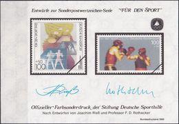 """DEUTSCHLAND 1995 Farbsonderdruck Der Entwürfe """"Für Den Sport"""" - [7] República Federal"""