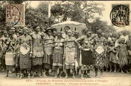 DAHOMEY - Carte Postale - Visite Du Ministre Des Colonies à Abomey - Groupe De Danseuses - L 53218 - Dahomey