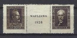 Pologne - N° 340 à 341 Neuf Sans Gomme Avec Pelurage - Voir Scan Recto Verso - 1919-1939 Republic