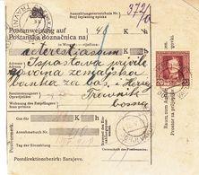 Bosnie Herzegovine - Document De 1918 - Oblit K.U.K. Milit Post - Cachet De Travnik - Bosnie-Herzegovine