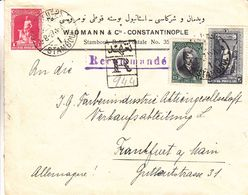Turquie - Lettre Recom De 1927 ° - Oblit Stamboul - Exp Vers Frankfurt Am Main - - 1921-... République