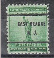 USA Precancel Vorausentwertung Preo, Bureau New Jersey, East Orange 899-61 - Vereinigte Staaten
