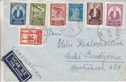 Turquie - Lettre De 1953 - Oblit Sevoglu  ?  - Exp Vers Budéjovice - Lettres & Documents