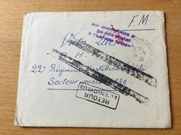 SCH3361 France 1940 Lettre Militaire Avec Contenu De St. Barnabé Pour Secteur Postal 139 Et Retour á L'envoyeur - Guerre