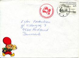 Greenland Cover Sent To Denmark Nuuk 3-12-1999 (Santa Claus Of Greenland Foundation) Bended Cover - Greenland