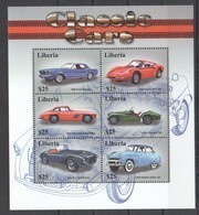 PK348 LIBERIA CLASSIC CARS 1KB MNH - Coches
