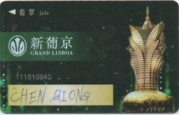 Carte De Membre Casino : Grand Lisboa : Macau Macao - Cartes De Casino
